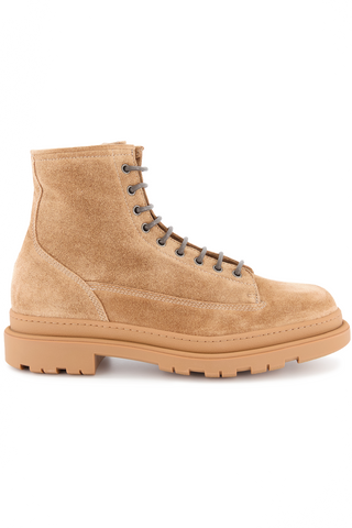 Side view image of Brunello Cucinelli Men's Cork Boots