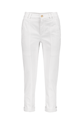 Front Image Cotton Cargo Pant White