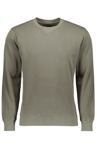 Cotton Crewneck Sweater In Army