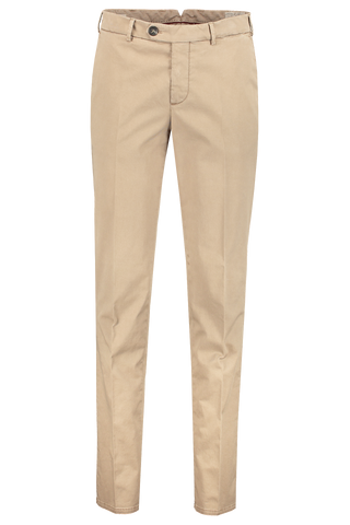 Front view image of Brunello Cucinelli Cotton/Elastan Flat Front Trouser