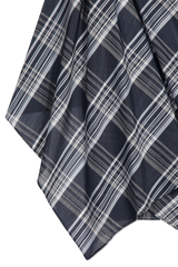 Plaid Fabric Detail Cotton Silk Plaid Wrap Skirt