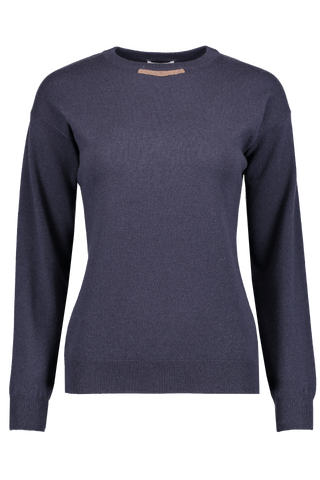 Front Image Crewneck Cashmere Sweater