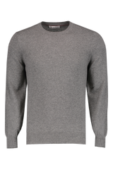 Front Image Crewneck Sweater Grey