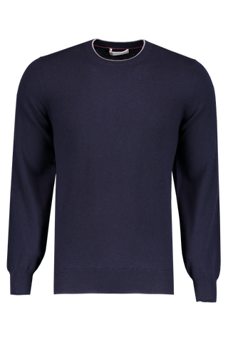 Front Image Crewneck Sweater Navy