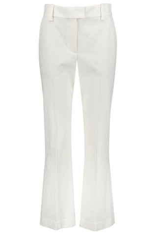 Front view image of Brunello Cucinelli Women's Cropped Cotton Flare Pant White