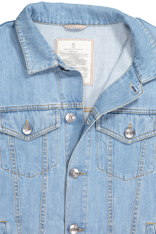 Collar Detail Denim Trucker Jacket