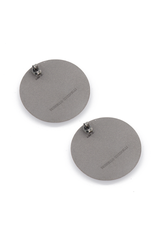 Backside image of Brunello Cucinelli Women's Argento Disc Earrings Grey