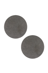 Front view image of Brunello Cucinelli Women's Argento Disc Earrings Grey