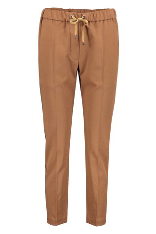 Front view image of Brunello Cucinelli Women's Drawstring Pant Cuoio