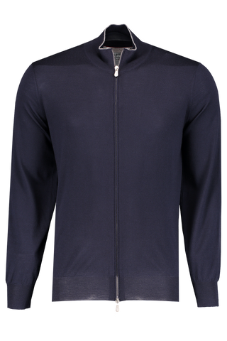 Front Image Stock FG Full Zip Sweater Navy