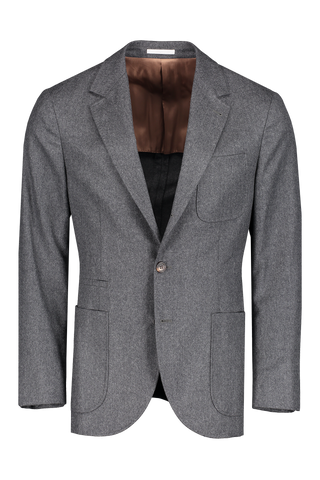 Front image of Brunello Cucinelli Men's Grigio Scuro Sport Coat