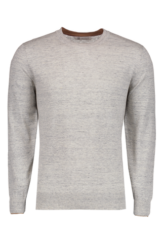Linen Cotton Crew Neck Sweater