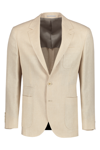 Front view image of Brunello Cucinelli Linen/Wool/Hopsack Sport Jacket