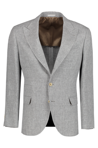 Front view image of Brunello Cucinelli Linen/Wool/Silk Peak Lapel Sport Jacket