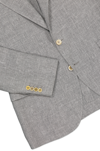 Hemline and cuff detail image of Brunello Cucinelli Linen/Wool/Silk Peak Lapel Sport Jacket