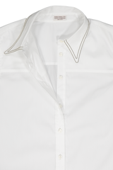 LS BUTTON UP BLOUSE WHITE