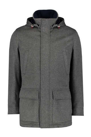 Cashmere Coat With Removable Hood