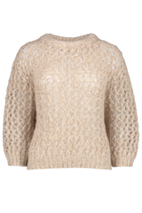 Front view image of Brunello Cucinelli Women's Mohair Cashmere Lurex Sweater
