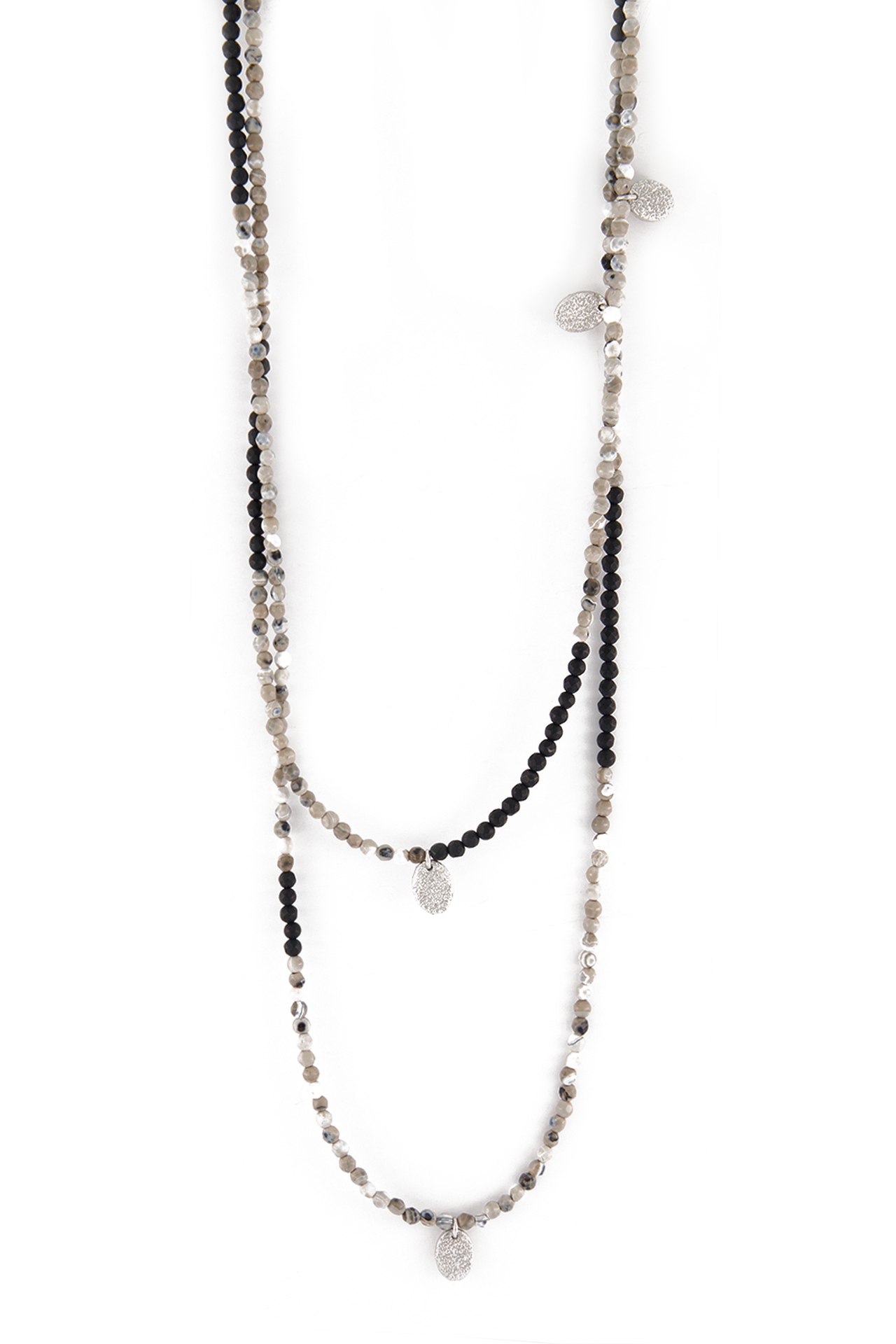 Front Image of Brunello Cucinelli Monili Agata Nera Necklace