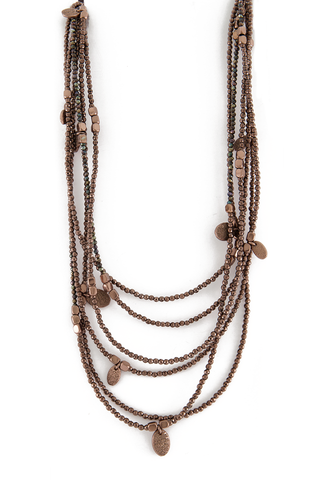 Image of Brunello Cucinelli Women's Monili Brown Necklace
