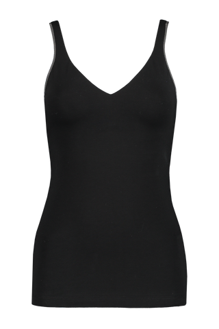 Front view image of Brunello Cucinelli Women's Monili Tank Top Black