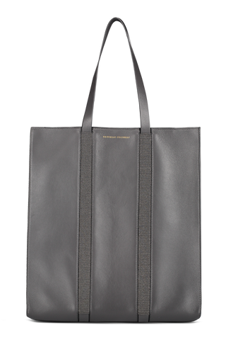 Side detail view image of Brunello Cucinelli Women's Monili Tote