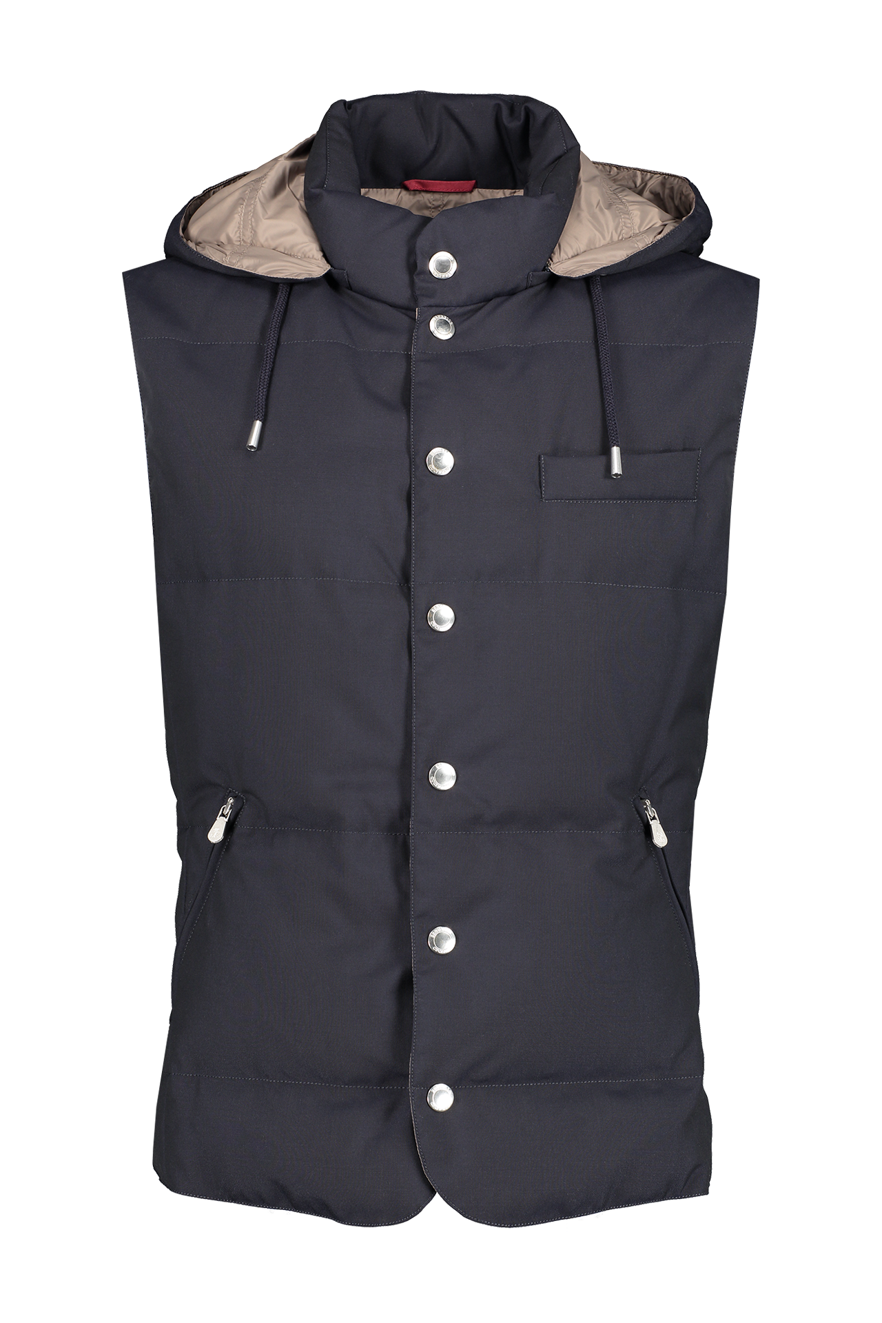 Front image of Brunello Cucinelli Padded Down Vest Navy