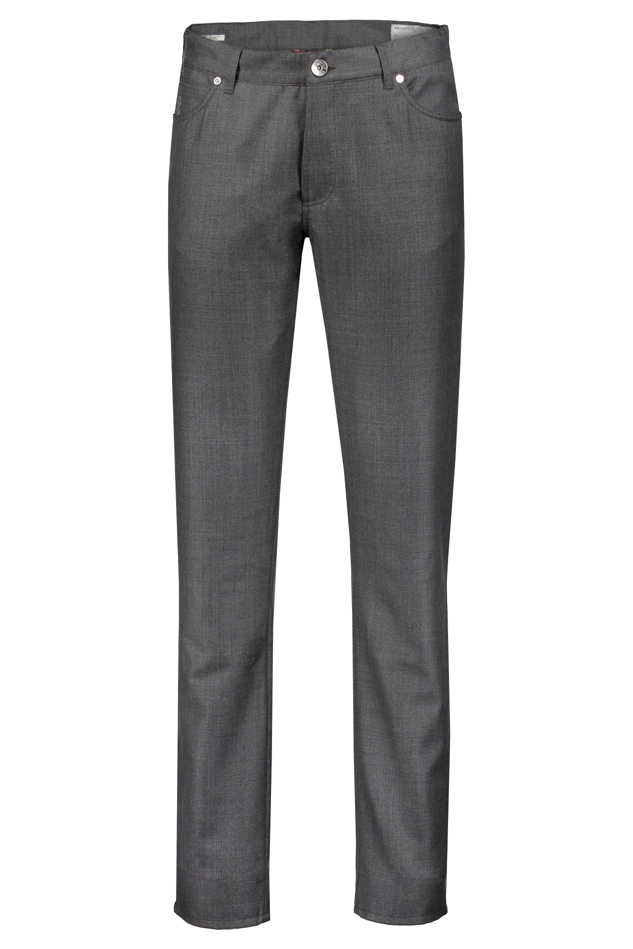 WOOL 5 POCKET PANT GREY