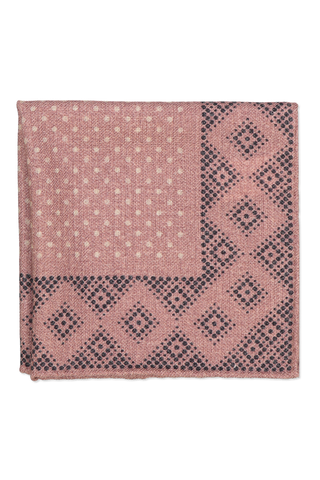 POCKET Square In MAUVE TAUPE