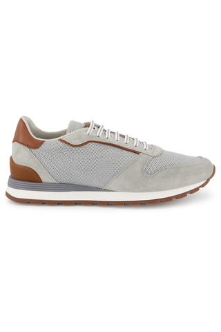 Side view image of Brunello Cucinelli Runner Sneaker Grey