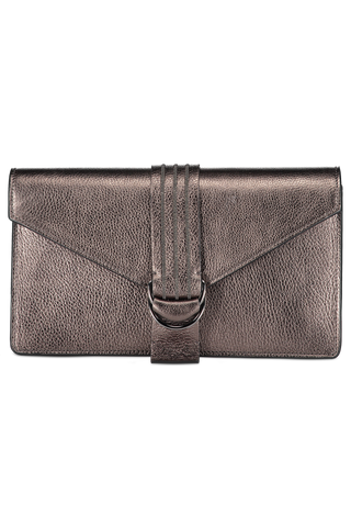 Front view detail image of Brunello Cucinelli Women's Shiny Leather Shoulder Bag