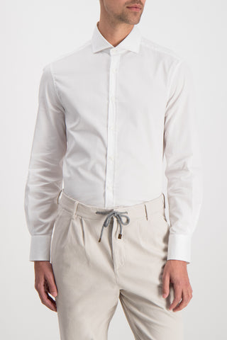 Slim Fit Solid Long Sleeve Woven