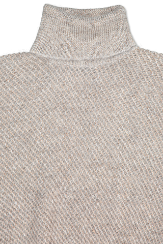 Front collar detail image of Brunello Cucinelli Women's Short Sleeve Turtleneck Sweater