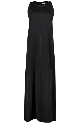 Silk Sleeveless Dress Black