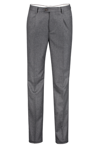 Front view image of Brunello Cucinelli Men's Single Pleat Leisure Grigio