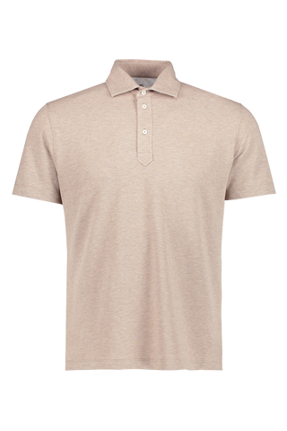 Front view image of Brunello Cucinelli Men's Spread Collar Pique Polo