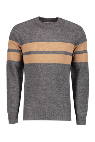 Double Stripe Crew Neck Sweater