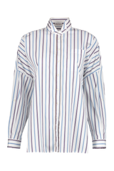 Front view image of Brunello Cucinelli Women's Striped Rolled Sleeve Tunic