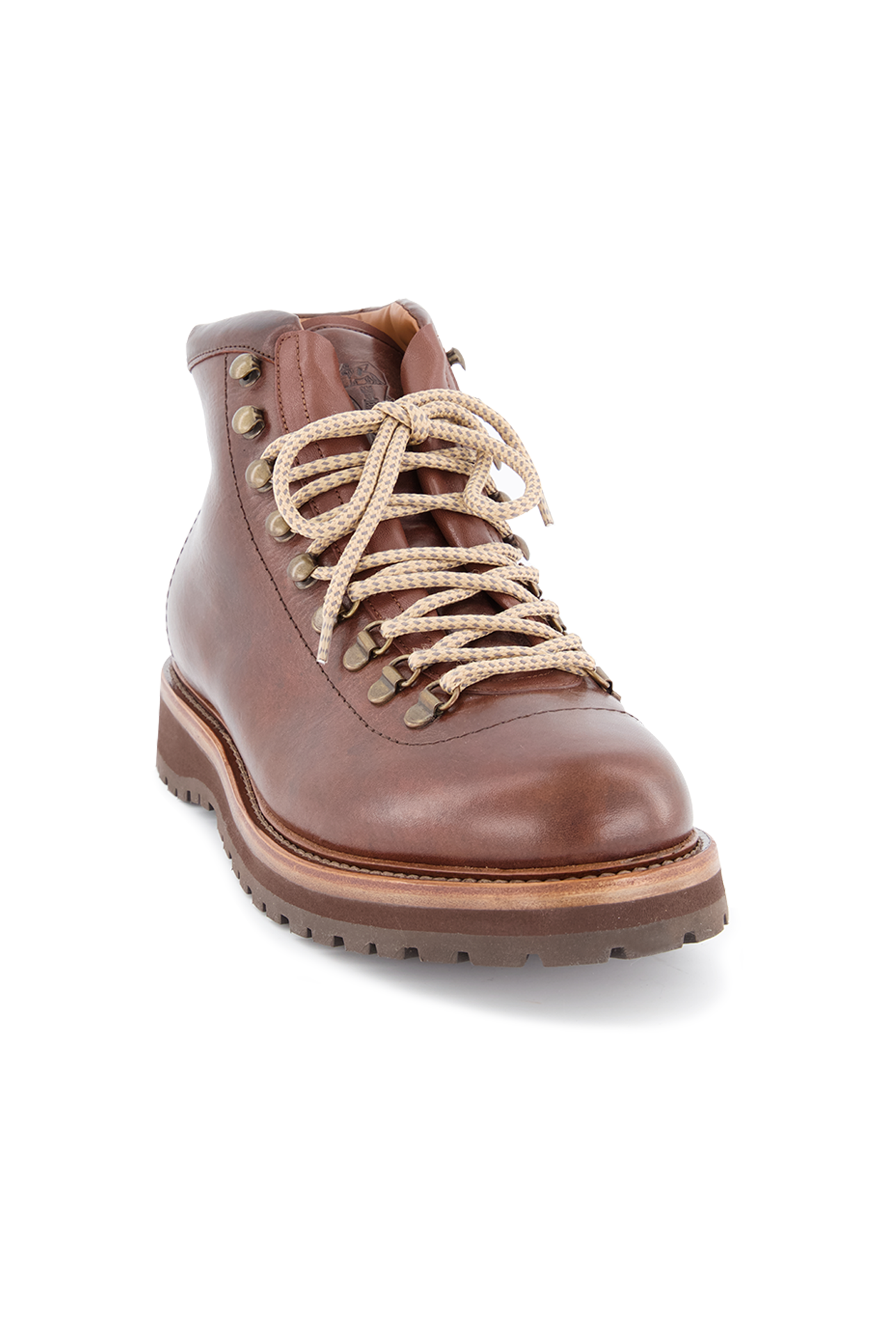 Front angled view image of Brunello Cucinelli Men's Tobacco Boots