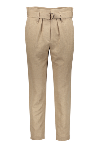TROUSER MED BROWN