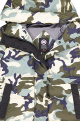 Front collar, hood, and zipper detail image of Canada Goose Women's Alliston Jacket