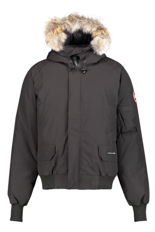 Front image view of Canada Goose Men's Chilliwack Bomber Black