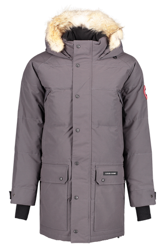 Front view image of Canada Goose Men's Emory Parka Graphite