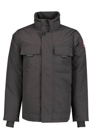 Front image of Canada Goose Men's Forester Jacket Black