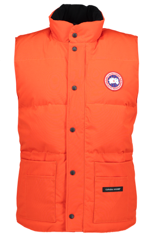 Men's Freestyle Crew Vest in Monarch Orange