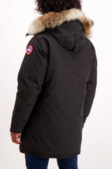 Back Crop Image of Model Wearing Canada Goose Men's Langford Parka Black