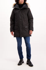 Full Body Image of Model Wearing Canada Goose Men's Langford Parka Black