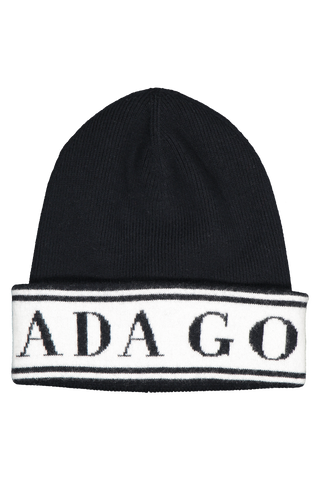 Side view image of Canada Goose Women's Logo Toque Hat Black