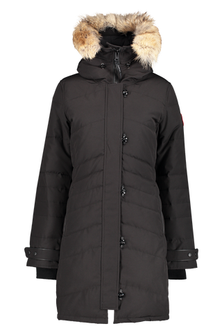 Front view of Canada Goose Women's Lorette Parka Black