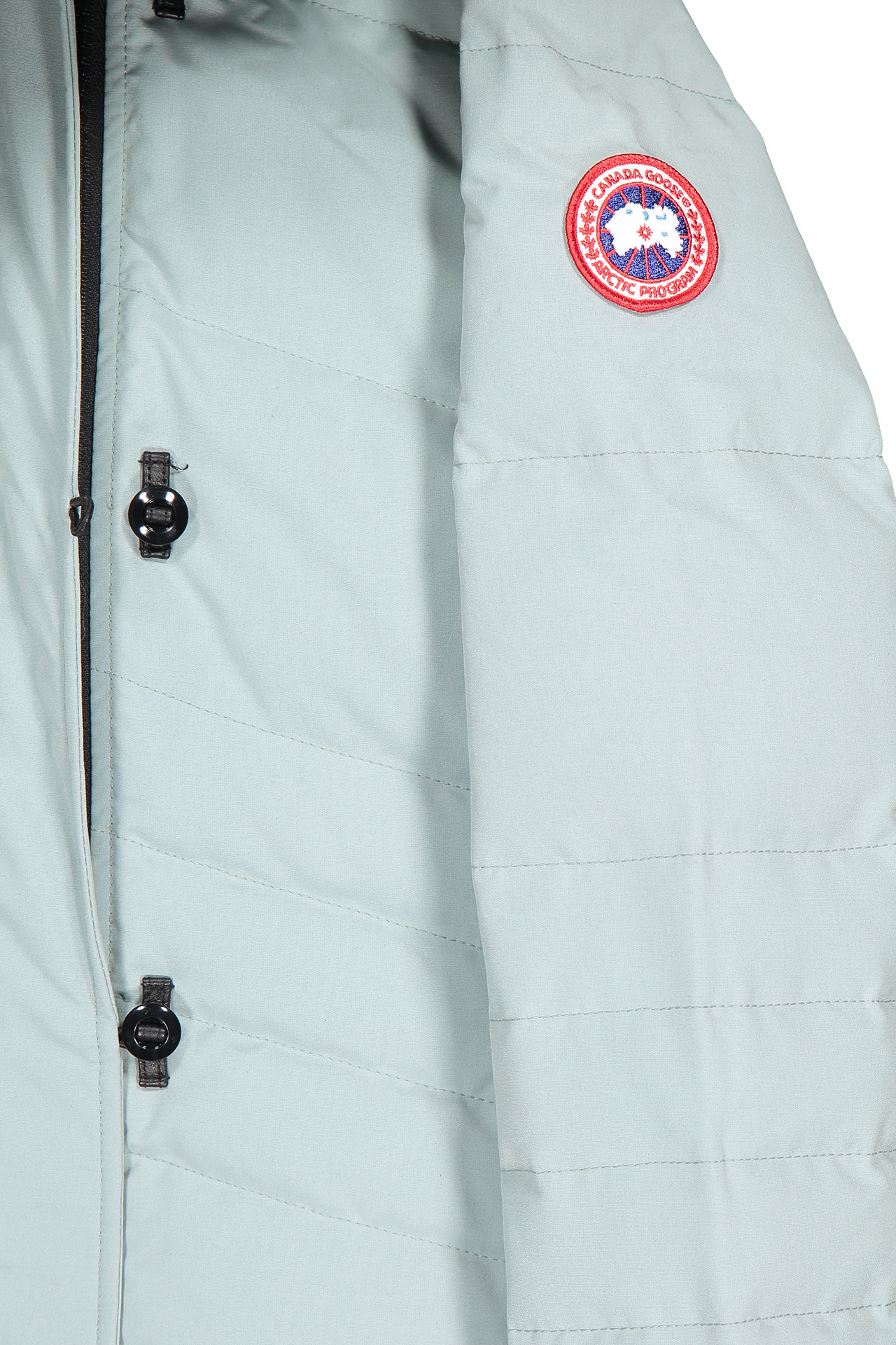 Sleeve detail image of Canada Goose Women's Lorette Parka Stormy Sky